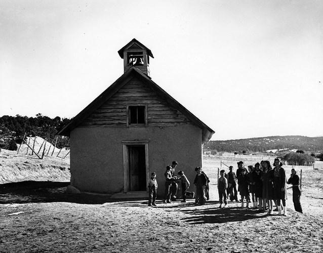 二战时期美国新墨西哥州罕见生活照,人们悠然
