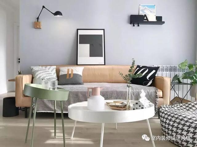 温馨又文艺,收纳超棒!105平简约北欧风室内装修效果图图片