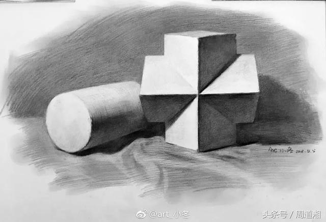 但画投影时可用8b塑造,画圆要了解圆的结构,也就是结构素描,临摹只是