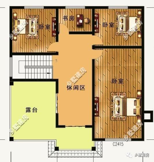 结构类型:砖混结构 建筑层数:3层 主体造价:34万左右 农村自建房七 占