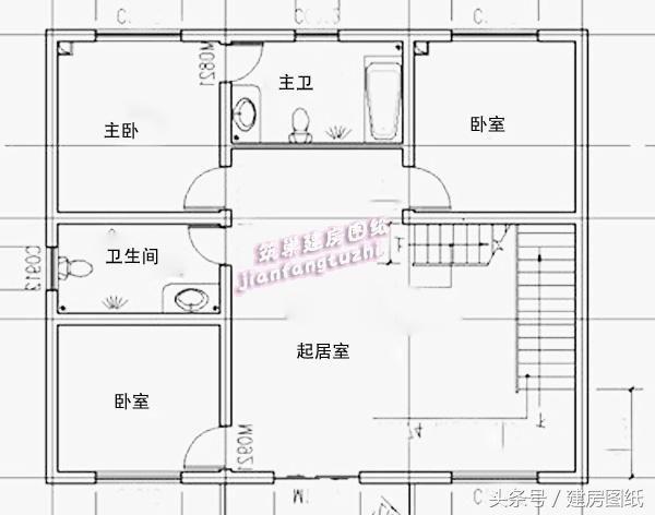 三层别墅图纸设计民宅,一样的图纸,不一样的品cad写怎么农村写字上面图片