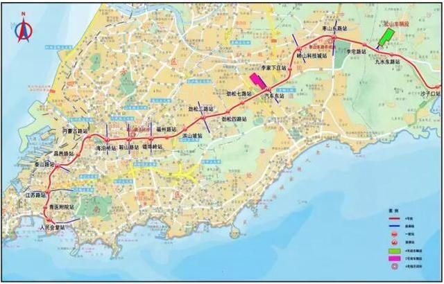 青岛地铁4号线有新进展!崂山这些道路要封闭施工