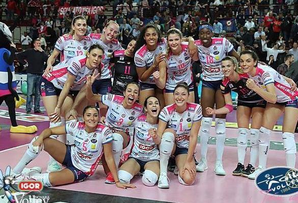 意大利女排联赛诺瓦拉晋级四强埃格努33分显威