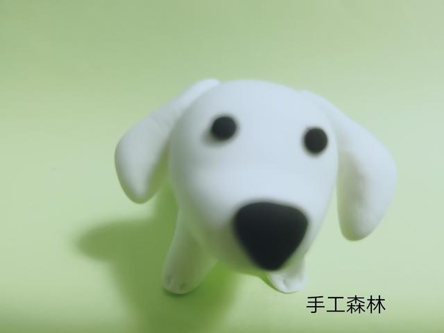 超轻粘土手工制作教程图解小白狗