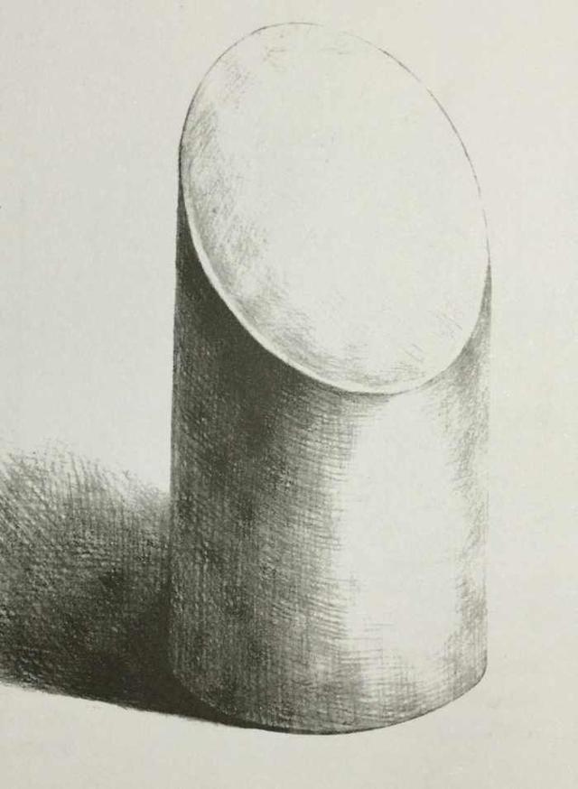 怎么画 斜切 圆柱体素描