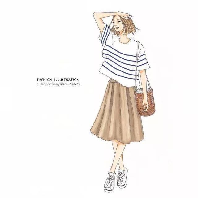 跟著手繪時尚插畫家saeko學會日系質感穿搭
