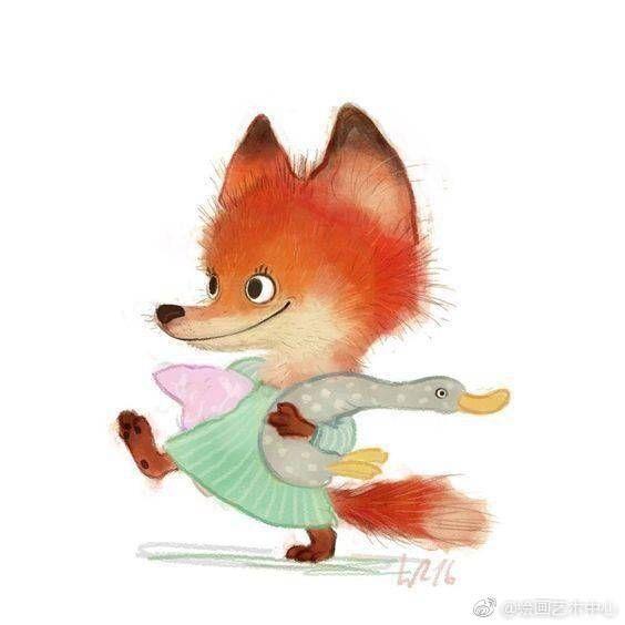 创意插画可爱蠢萌小动物头像壁纸:插画师wiebke rauer