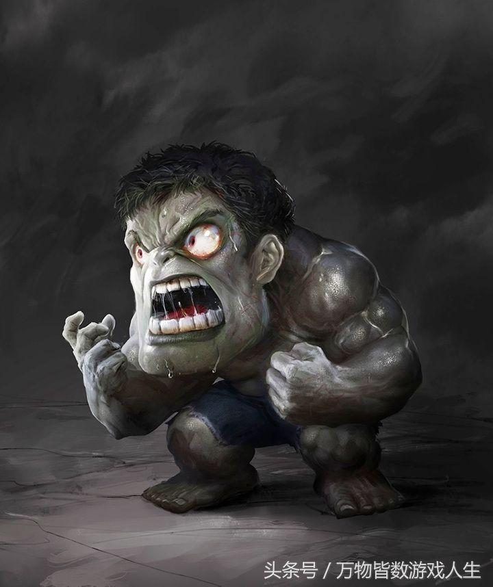 绿巨人变成侏儒,虽然表情依旧,可是少了那份霸气,凶不起来.图片