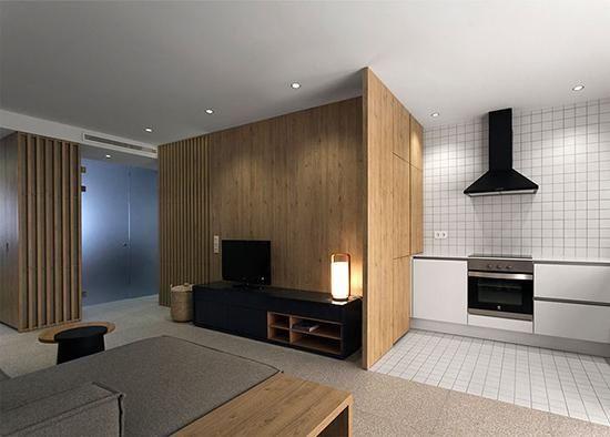 50平小户型装修,巧妙隔断变身两室一厅