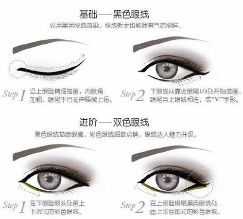 所以可以拿眼线笔画内眼线,然后拿眼线液笔画眼尾部分就ok 2 好多人