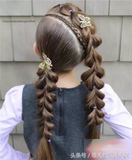 16款小女孩好看的辫子编发发型,美美的迎接节日的到来