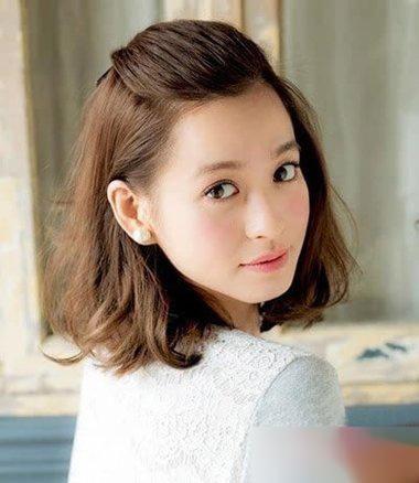 11款韩国短发女生扎头发造型!