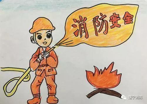 消防儿童画图片大全】  儿童幼儿简笔画 简单必学美术绘画 边学每个人