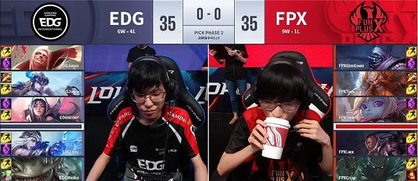 FPX2:0击败EDG,提前锁定季后赛名额