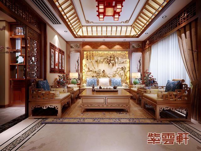 仿古中式房屋装修效果图案例,流光千年印古意