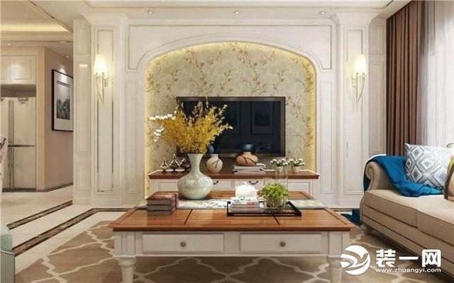 四款石膏罗马柱电视背景墙装修效果图 看穿欧式风格