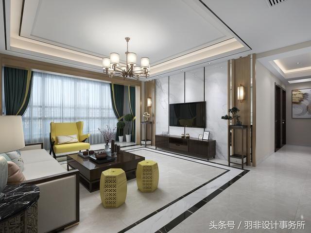 柳州新中式装修风格,用简洁的线条勾勒颇具东方韵味的图片