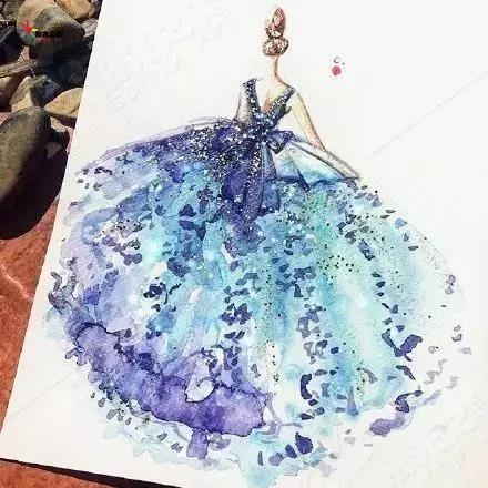 简笔画 十二星座专属手绘公主裙,天秤优雅艳丽,双鱼花之精灵