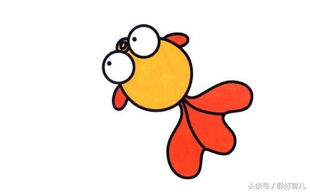10款海洋鱼类简笔画,家长请收好!简单好画,提升孩子认知能力!图片