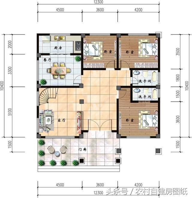 170平方自建房设计图