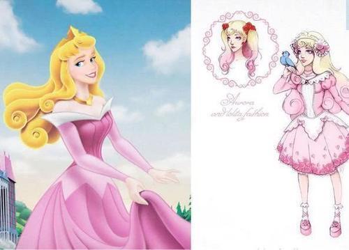 迪士尼公主换上漂亮短裙,仙蒂公主超可爱,爱洛公主变哥特萝莉!