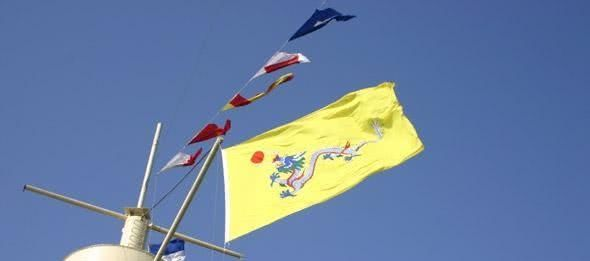 大清帝国已灭亡多年,却有英国人在遥远的小岛上升起了大清龙旗