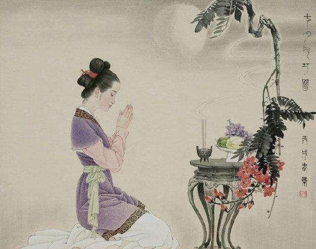 人文|月下乞巧,投针验巧,还是女儿节……古时七夕真是网红节