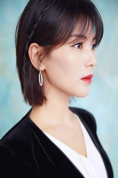刘涛换新发型,一头齐肩的短发,特清爽干练,女神高扎马尾侧面斜刘海图片