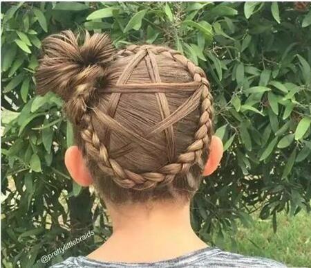 从来没想过,五角星的发型设计,视觉效果这么震撼.