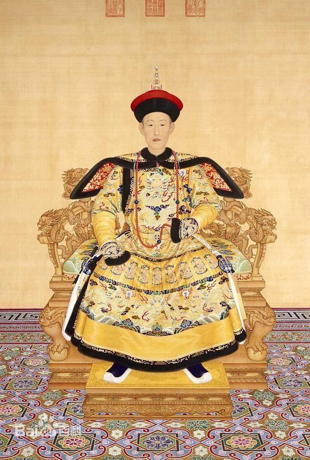 清朝12位君主顺序和各个皇帝的画像模样