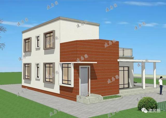 9x11.1m现代中式别墅,时间越久越经典,造价30万