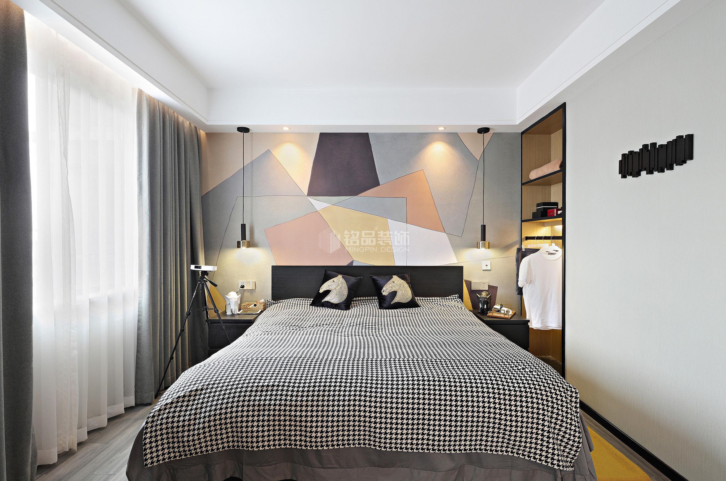 简约风格二居室装修案例,77平米的房子装修多少钱?-金地自在城装修