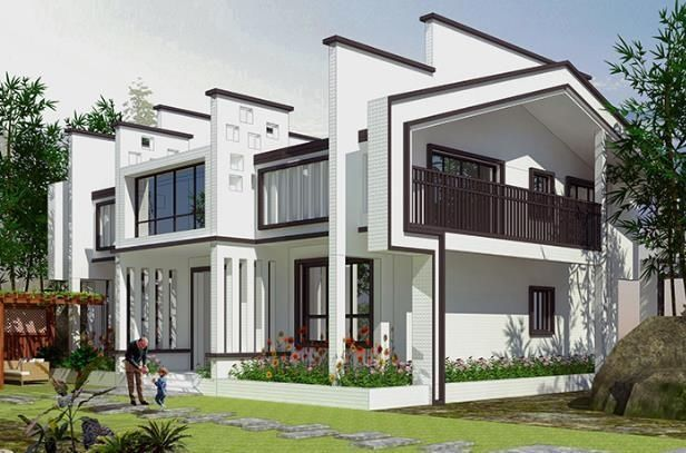 5款现代中式别墅,自建房建成这样传三代,你敢吗