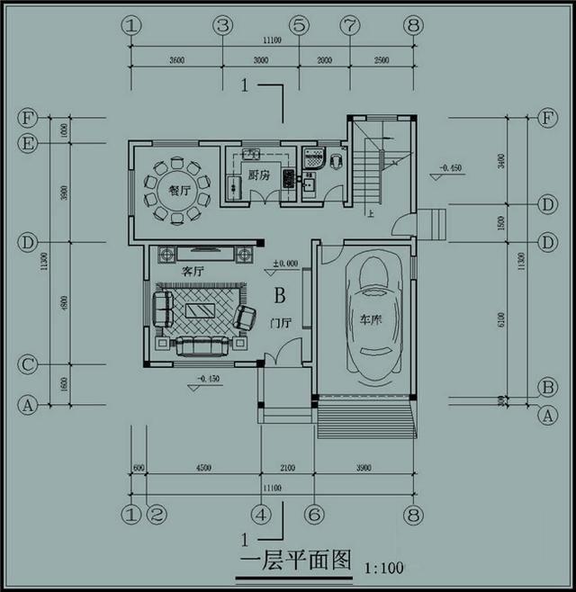建房120平方平面图纸