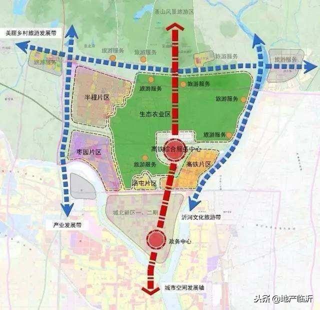 (临沂高铁片区规划图 来源 | 临沂市规划局 )