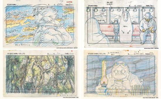 宫崎骏给我看了他的动画手稿