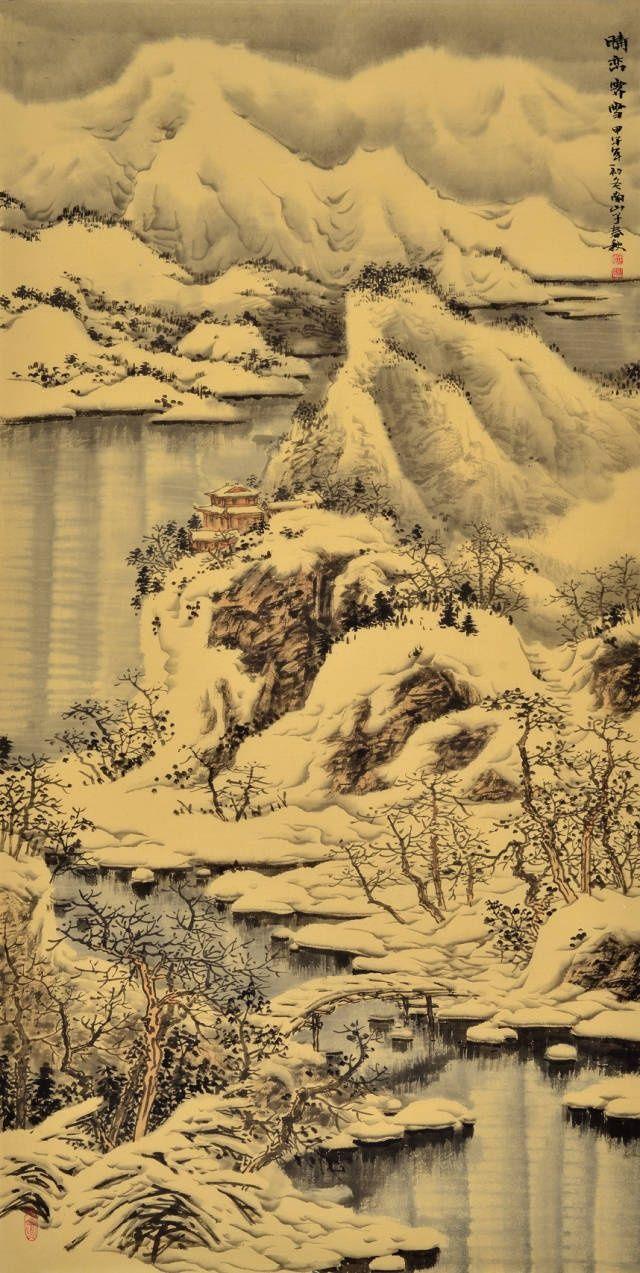 冬天,来说一说国画山水雪景的画法