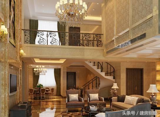 511.9米四层农村别墅,旋转楼梯配中空客厅完美