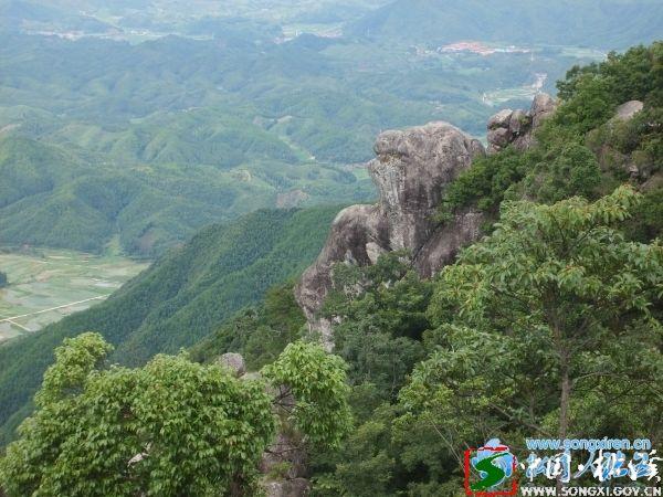 该县省级自然保护区白马山,海拔1031米,森林茂密,景色雄奇.