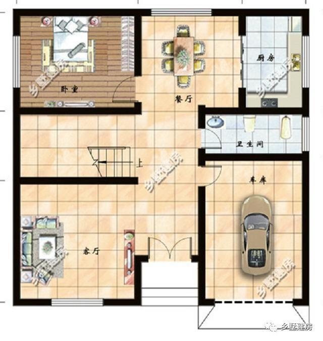 需要自建房别墅图纸,点击手机顶部头条号【乡墅建房】,进入主页底部