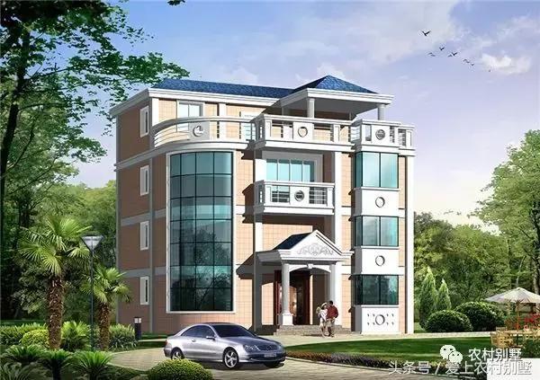 12x12米复式四层农村别墅,时尚大气带露台,性价比超高