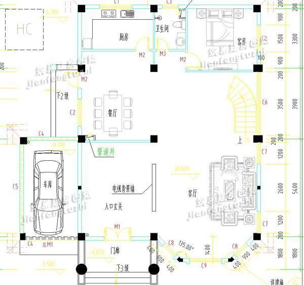 四平方厨房设计平面图