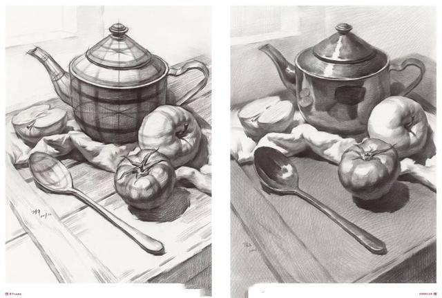3苹果梨橙子与罐子 4书颜料画笔苹果与素描石膏五官 5苹果丑桔番茄