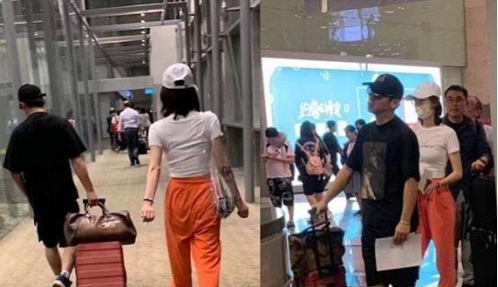 郑恺绯闻女友苗苗风波后现身机场,素颜脸配睡衣,比程晓玥如何?
