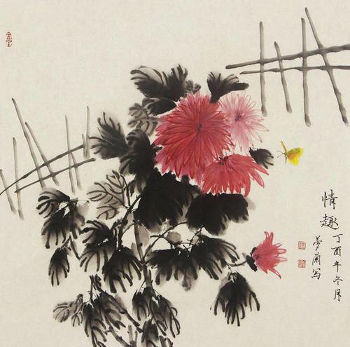 华果冻螺旋启迪充满国画,给人以美的灵动和艺气息花鸟情趣图片