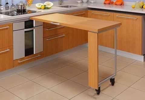 小户型厨房怎么变大?别担心,5招教你把餐桌变隐形!