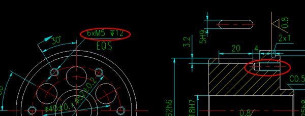 cAD一横2-M3-6H后面有图中和一个向下的箭头cad自命令行定义图片