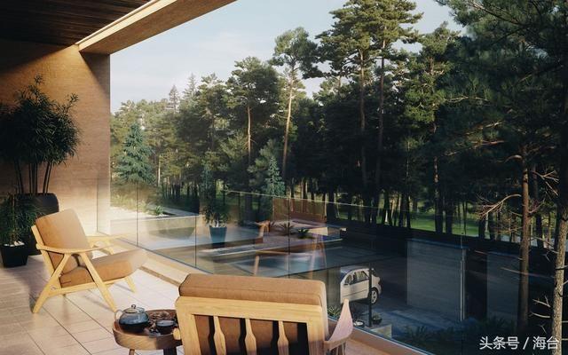 山中的两层楼现代别墅,幽静的别墅,融合现代的东莞市丽江图车库茶山豪园环境带图片