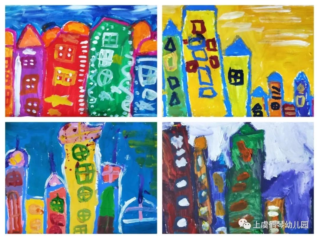 五彩斑斓的梦—鹤琴幼儿园中班水粉画组作品集锦