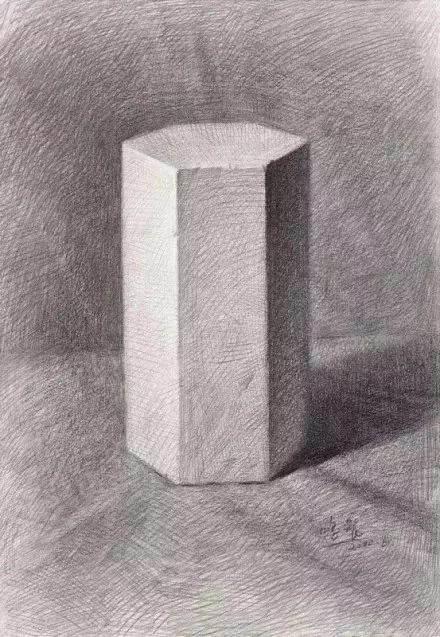 几何体圆柱体的素描步骤